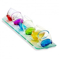 Roly Poly Rocking Shot Glass Set, 7-Piece