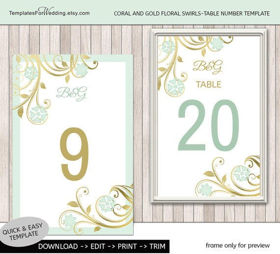 table number insert template wedding from printable wedding diy