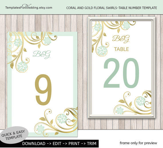 Table Speaker Card Inserts 4: Table Number Insert Template