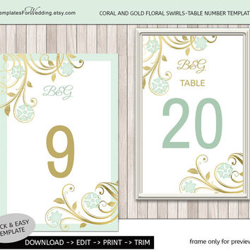Table number insert template|wedding table card|Instant Download wedding|Table insert frame|word.doc and pdf.format|Editable|4x6"