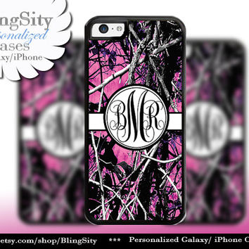 Camo Black Monogram iPhone 5C 6 Plus Case iPhone 5s 4 case Ipod muddy Realtree Personalized Country Inspired Girl