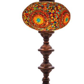 Best turkish lamps products on wanelo turkish mosaic lamp 100 handmade table lamp mu6002 aloadofball Images