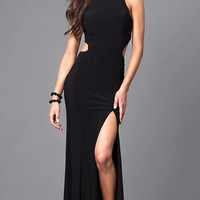 Racerback Floor Length Prom Dress