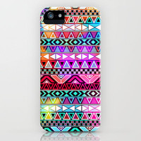 Purple Pink Neon Bright Andes Abstract Aztec Pattern iPhone Case by Girly Trend | Society6