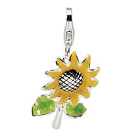 Sunflower 3-D Clipable Charm