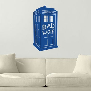 "Doctor Who Tardis ""Bad Wolf"" Wall Vinyl Decal"