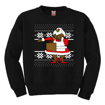 Dabbing OG Mrs. Claus Ugly Christmas Sweater | Unisex Adult Crewneck Sweatshirt