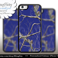 Blue Camo iPhone 5C 6 6 Plus Case Camo iPhone 5s 4 case Ipod Real Tree Personalized Country Inspired Girl Monogram
