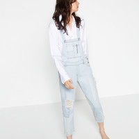 RIPPED DENIM DUNGAREES - View all-WOMAN-NEW IN | ZARA United Kingdom