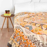 Magical Thinking Painted Mandala Duvet Cover- Orange Full/queen