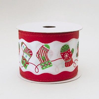Popular Christmas Ribbon Wired Edge, 10-yard
