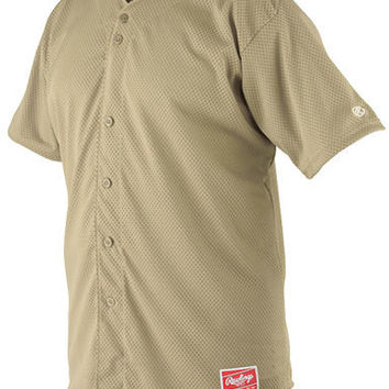 rawlings pindot mesh adult baseball jerseys - gold Case of 16