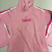 PHILADELPHIA EAGLES YOUTH PINK HOODED SWEATSHIRT BY REEBOK SHIPPING