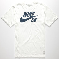 Nike Sb Dri-Fit Icon Woodgrain Mens T-Shirt White  In Sizes
