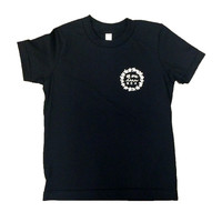 Kid's Black T-Shirt with Retro Surf Lei