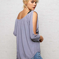 Don't Ask Why Off-The-Shoulder Shirt, Light Blue