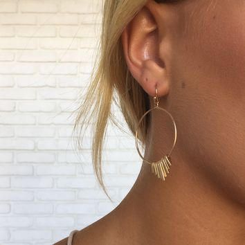 Shooting Hoops Fringe Earrings in Gold