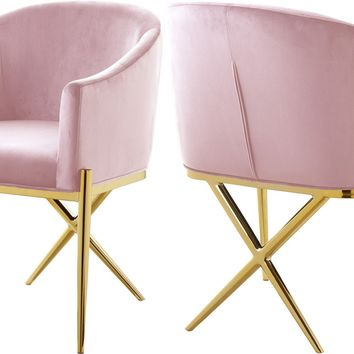 Xavier Pink Velvet Dining Chair