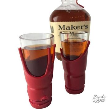 Handcrafted Liquor Bottle Shot Glass Set