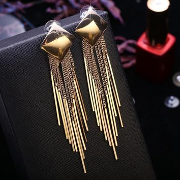 Tassels Korean Stylish Luxury Earrings [11337094215]