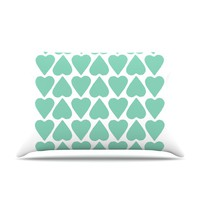 "Project M ""Mint Up and Down Hearts"" Pillow Case"