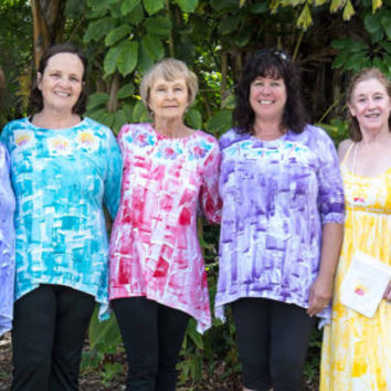 Hand Painted TShirts - Hawaiian Shirt - Tunic top - Maternity Tunic - Plus Size Top - Hand Painted Top - Tunic - Maternity Top - Plus Size