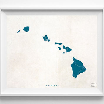 Hawaii Map, Hawaii Print, Hawaii Poster, Map Print, Bedroom Art, Bathroom Wall Art, Office Wall Decor, Home Decor, Halloween Decor