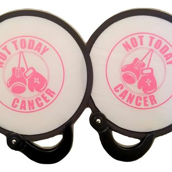 2 pc Not Today Cancer Popup Fan Folding Purse Size