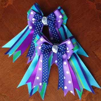 Horse Show Hair Bows, More Purple for You!