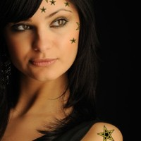 Not Too SweetTats Mystical Star Assortment Temporary Tattoo Pack - 11 Assorted Stars per Pack