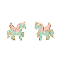 LOVEsick Mint & Pink Unicorn Earrings