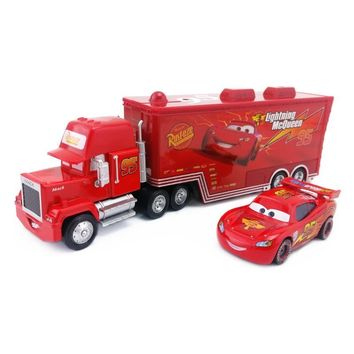 Disney Pixar Cars 2Pcs/Set Lightning McQueen Mack Uncle Truck The King Chick Hicks Toy Car Model 1:55 Loose New Kids Boy Gift