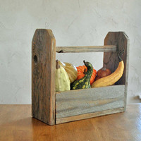 Rustic Wooden Tote, Reclaimed Wood, Farmhouse Decor