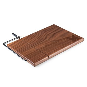 Memphis Tigers 'Meridian' Black Walnut Cutting Board & Cheese Slicer-Black Walnut Laser Engraving