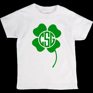 St. Patricks Day Personalized Monogram Name Onesuit or Kid's T-Shirt