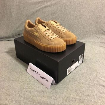 VONE05 Puma Suede Creepers Fenty By Rihannna UK 4 6 Gum Tan Brown Authentic Creeper