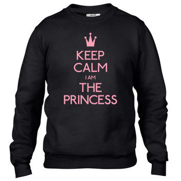 keep calm princess Crewneck sweatshirt