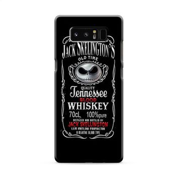 Jack Skellington Whiskey Daniels Samsung Galaxy Note 8 Case
