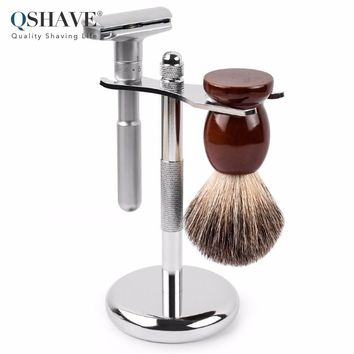 Q-Shave Classic Safety Razor Set + Stand Holder