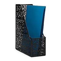 Realspace Brocade Magazine File Black by Office Depot