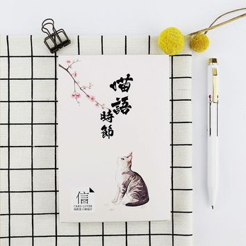 30pcs/lot Cute Cat Kittens Lovely Cartoon Animals Kawaii Cartoon Postcards Cute DIY Envelop Gift Card Creative Bookmark