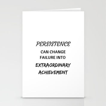 PERSISTENCE Stationery Cards by Love from Sophie