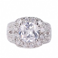 Carla's Vintage Inspired Grand Cushion Cut CZ Ring