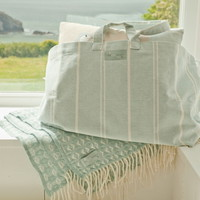 Beach bag- Holdall in pastel cotton colours