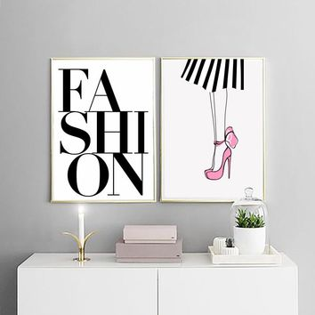900D Posters And Prints Wall Art Canvas Painting Wall Pictures For Girl's Room Nordic Fashion Lip Poster Canvas Painting  NOR009