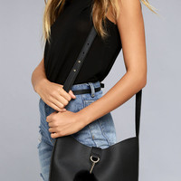 Girl On The Go Black Purse