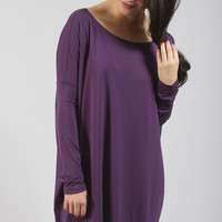 piko: ultimate everyday long sleeve tunic - dark purple