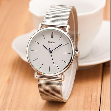 2018 Luxury Women Metal Mesh Watch Simplicity Classic Wrist Fashion Casual Quartz High Quality Women's Watches Relogio Masculino