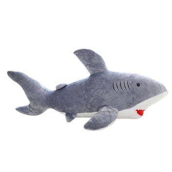 50cm giant shark plush shark whale stuffed fish ocean animals kawaii doll toys for children kids cartoon toy for baby's gift