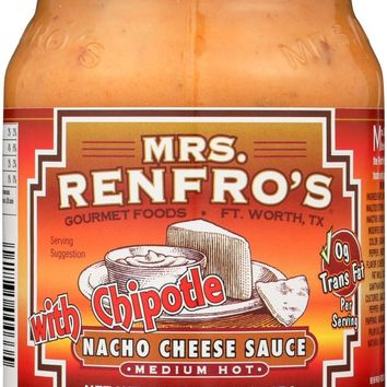 MRS. RENFRO'S: Medium Hot With Chipotle Nacho Cheese Sauce, 16 oz
